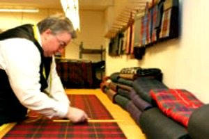 Expert Kilt making at Highland House of Fraser